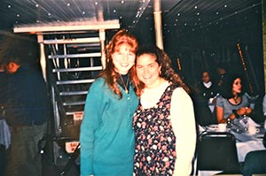 Allison and Audra, Villanova Band event circa 1996