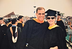 Audra and Mark at Villanova Graduation